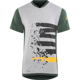 ION Letters Scrub AMP - Maillot manga corta Hombre - gris/verde